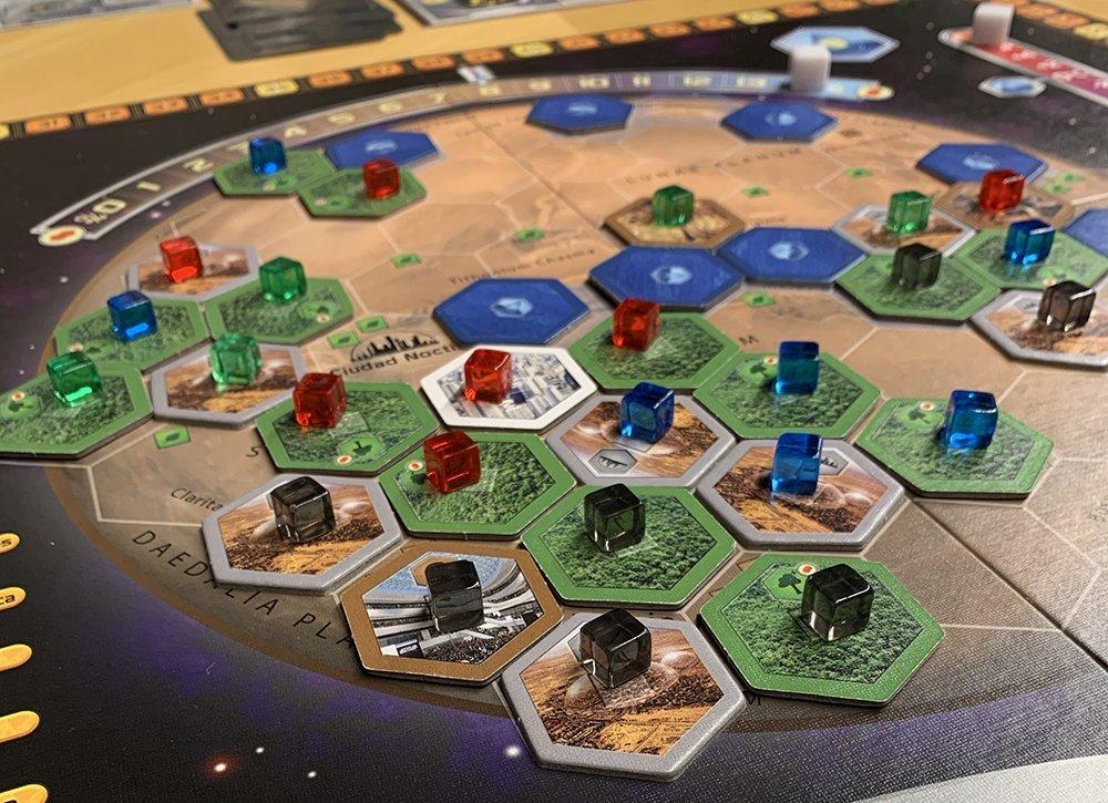 Tablero final de partida Terraforming Mars
